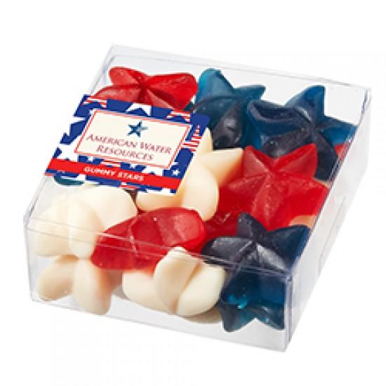 Custom Logo Symbolic Snack Box w/ Patriotic Gummy Stars