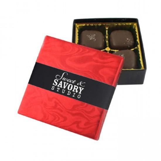 Customize 4 Piece Sea Salt Caramel Gift Box with your logo