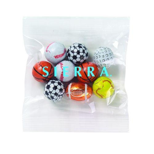 Custom Logo Promo Snax - Chocolate Sport Balls (2 Oz.)